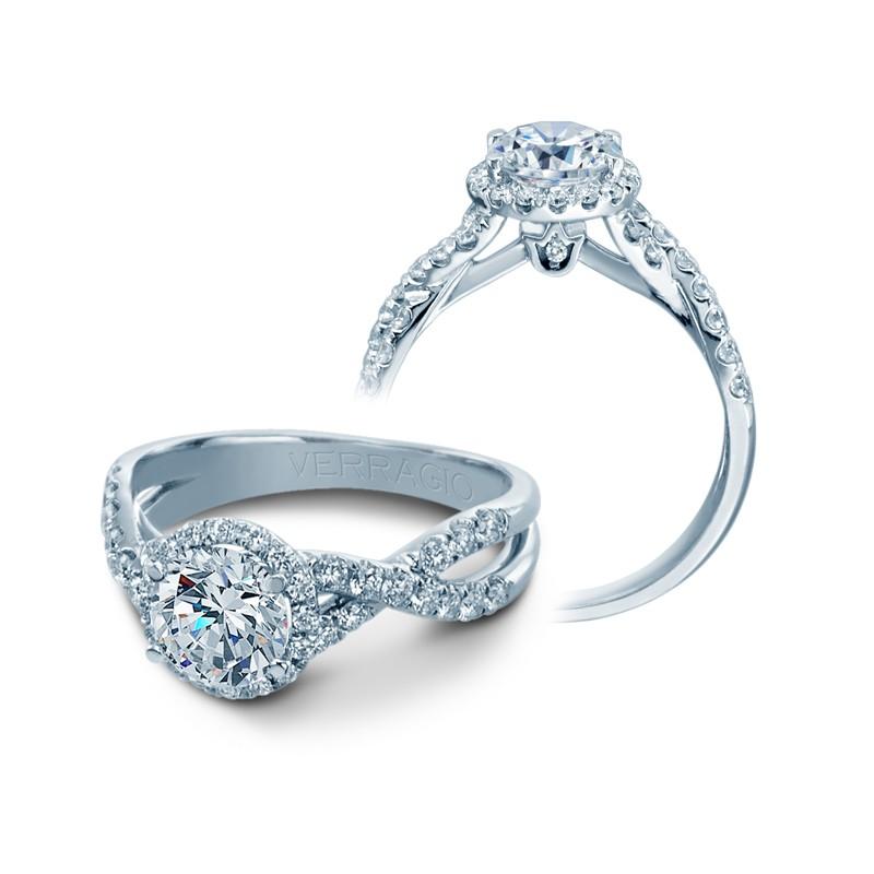 Verragio Pave Set Crisscross Diamond Engagement Ring