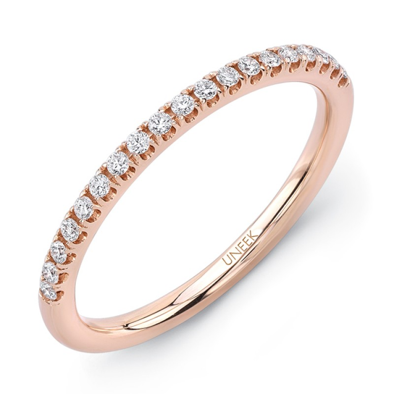 Uneek Amore U-Pave Diamond Wedding Band in 14K Rose Gold