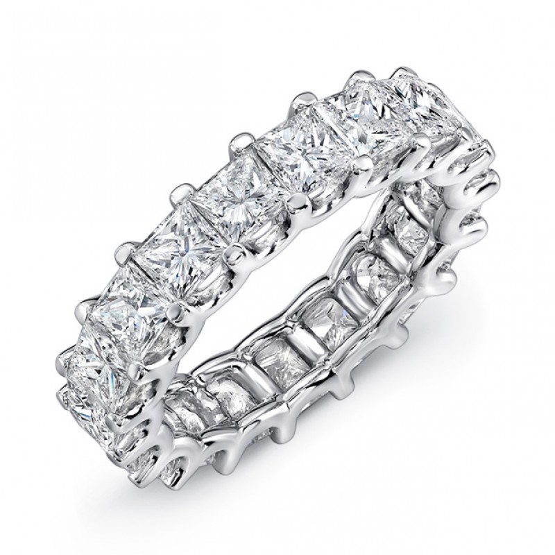 bands gold band jewelry ring diamond rings white sku emerald cut platinum all eternity tw full