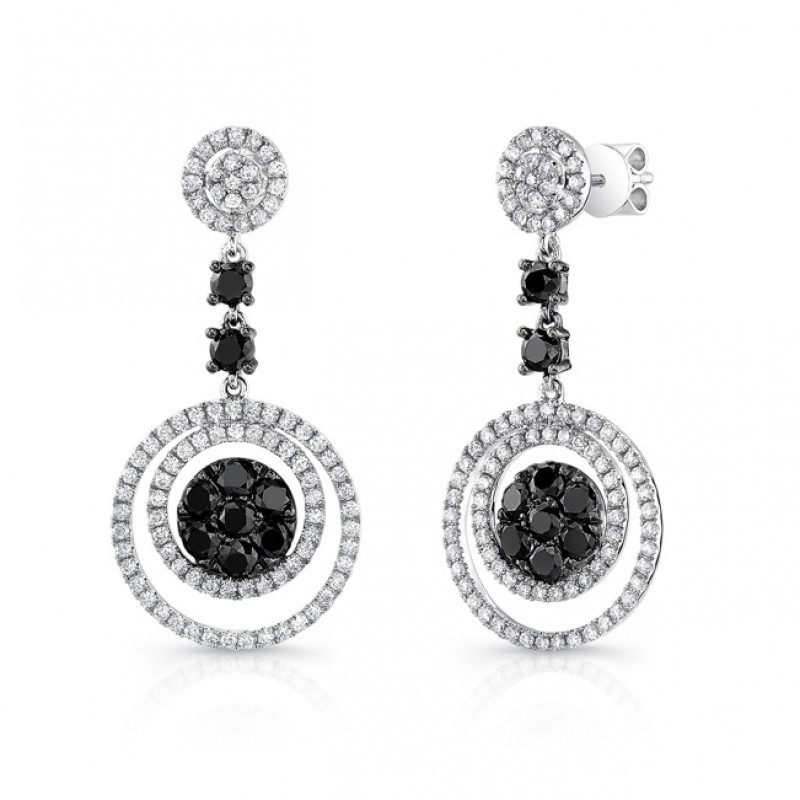 ct zm to diamond kaystore mv tw cut black round sterling kay earrings en silver hover zoom