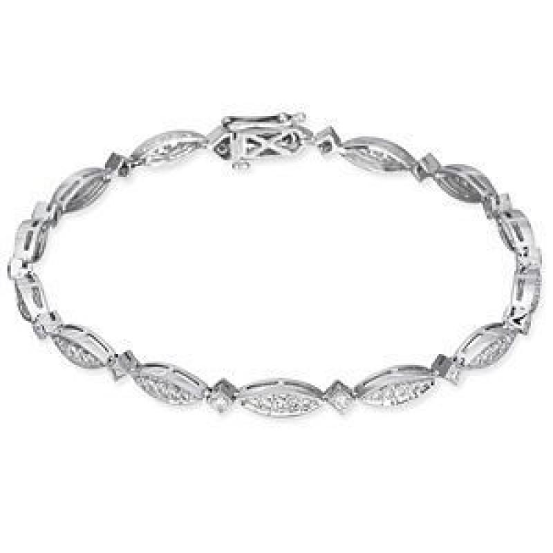 Alluring Zeghani 14k White Gold Bracelet
