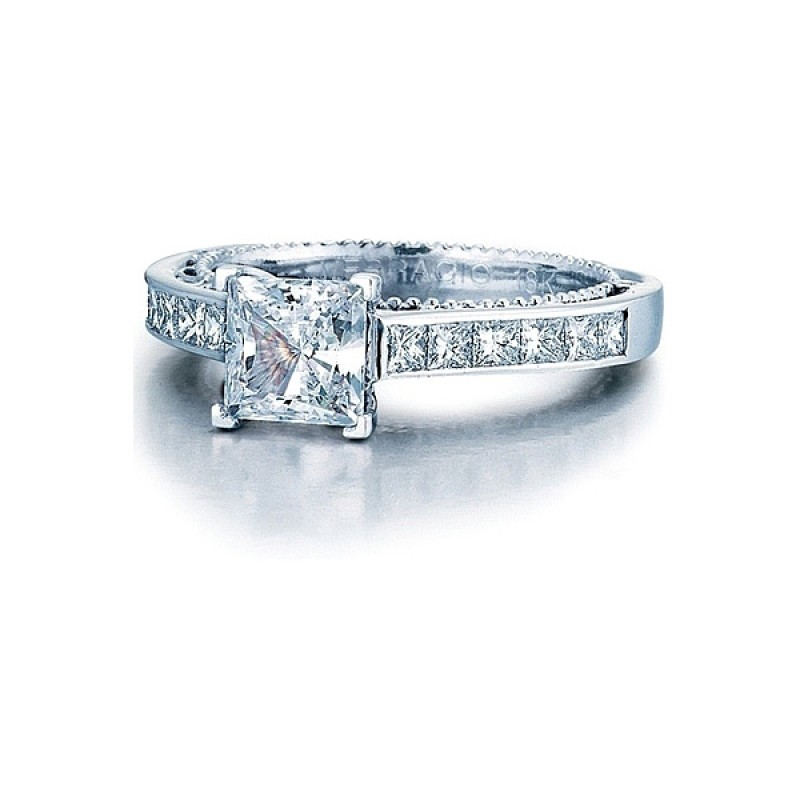 channel diamond set platinum ring in product