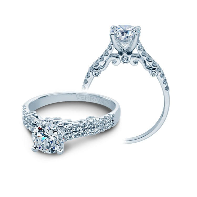 Verragio Round Brilliant Diamond Engagement Ring