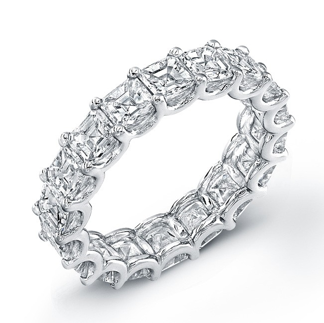 Uneek Platinum Asscher Cut Diamond Eternity Band-ETAS500
