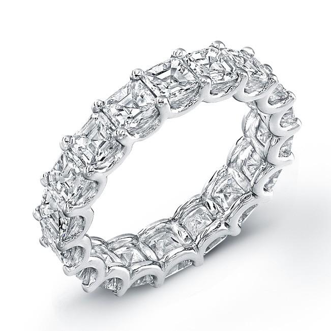 Uneek Platinum Asscher Cut Diamond Eternity Band-ETAS600