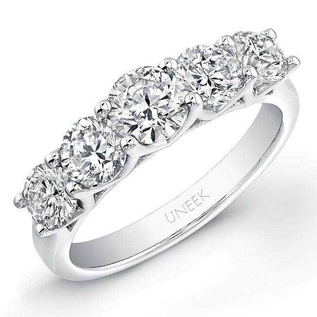 Platinum Round Diamond Wedding Band LVB109