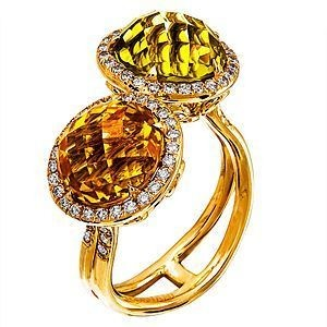 Lovely Zeghani Multi-stone Fashion Ring