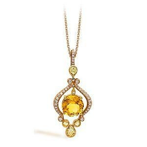 Exquisite Two-tone Zeghani Gemstone Pendant