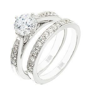 Zeghani Diamond Wedding Band and Engagement Set