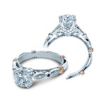 Verragio Prong-Set Diamond Engagement Ring With Sapphire Accents