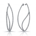 Uneek 18K White Gold and Diamond Earrings E239