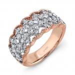 "Uneek ""Gossamer"" Open Lace Diamond Band in 18K Rose Gold"