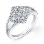 Split-Shank Diamond Engagement Ring LVR109