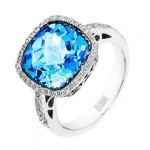 Alluring Zeghani Gemstone Ring in 14k White Gold