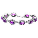 Zeghani Amethyst and Diamond Bracelet