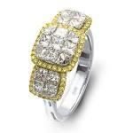 Dazzling Two-tone Diamond Zeghani Ring