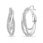 Uneek Hoop Diamond Earrings LVW441W