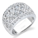 18K White Gold Diamond Wedding Band WB069