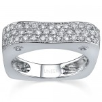 Wedding Band 18K White Gold and Pave Diamond WB072