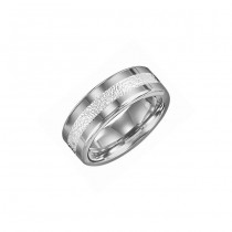 Triton 8mm Tungsten Carbide Bright Polished Comfort Fit Band 11-2323-G