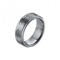 Triton Black Tungsten Step Edge Comfort Fit Band 11-01-3288