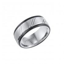 Triton Mixed Tungsten Carbide Comfort Fit Wedding Band 11-01-4146