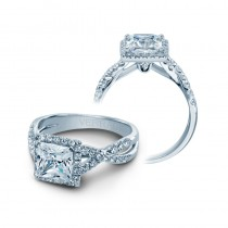 Verragio Pave Set Crisscross Engagement Ring