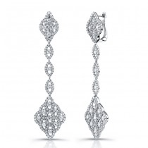 Uneek 18K White Gold and Diamond Earrings E227