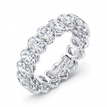 Uneek Platinum Oval Cut Diamond Eternity Band - ETOV400