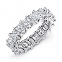 Uneek Princess Cut Diamond Platinum Eternity Band-ETPC300