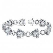 "The Uneek ""Geometry"" Diamond Bracelet, in Platinum"