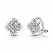18K White Gold Diamond Earrings LVEM02