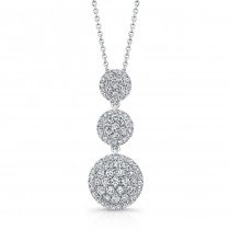 Bouquet Collection Diamond and 14K White Gold 3 Round Cluster Pendant LVN665