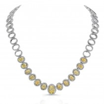 18K White and Yellow Gold Diamond Necklace - LVN680.jpg