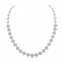 18K White Gold Diamond Necklace LVND03