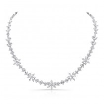 18K White Gold Diamond Necklace LVNM01