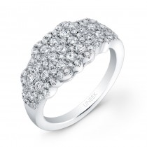 Bouquet Collection 14K White Gold Diamond Band LVR110