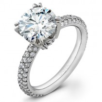 Uneek Platinum Round Diamond Engagement Ring LVS263