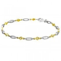 Stunning Two-tone Zeghani Diamond Bracelet
