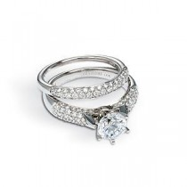 Zeghani Diamond Wedding and Engagement Ring Set