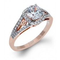 Zeghani 14K Rose Gold Engagement Ring