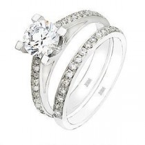 Zeghani Diamond Wedding Ring and Engagement Ring Set