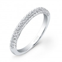 Uneek 21-Diamond U-Pave Wedding Band in 14K White Gold