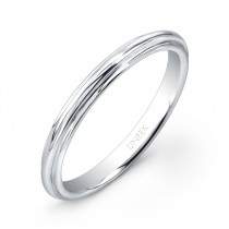 "Uneek ""Tri-Fluted"" Wedding Band in 14K White Gold"