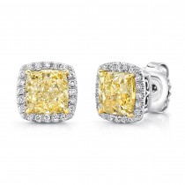 Uneek Fancy Yellow Diamond Earrings LVE321