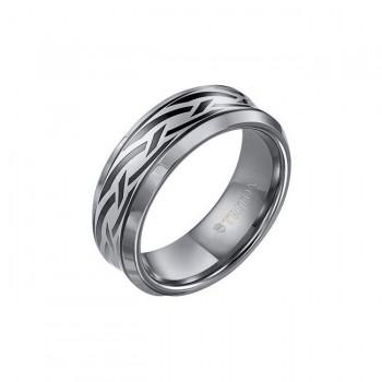 Triton 8mm Tungsten Carbide Bevel Edge Comfort Fit Band 11-01-3049