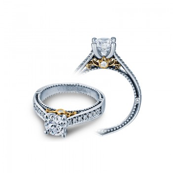 Verragio Two-Tone Pave Diamond Engagement Ring