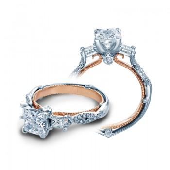 Verragio Three Stone Pave Twist Diamond Engagement Ring