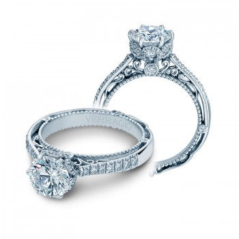 Verragio Halo Pave Diamond Engagement Ring