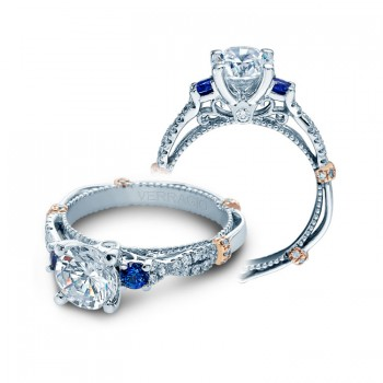 Verragio Diamond and Sapphire Twist Engagement Ring